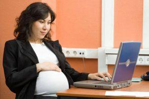 Работа за компьютером во время беременности