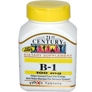 Витамин В1 чаще всего назначается в составе витаминных комплексов