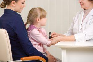 Ребенок на приеме у невролога