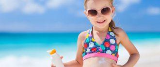 Солнцезащитный крем и ребенок