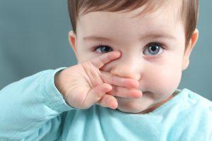 У ребенка заложило нос