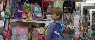 Рюкзак и школьник