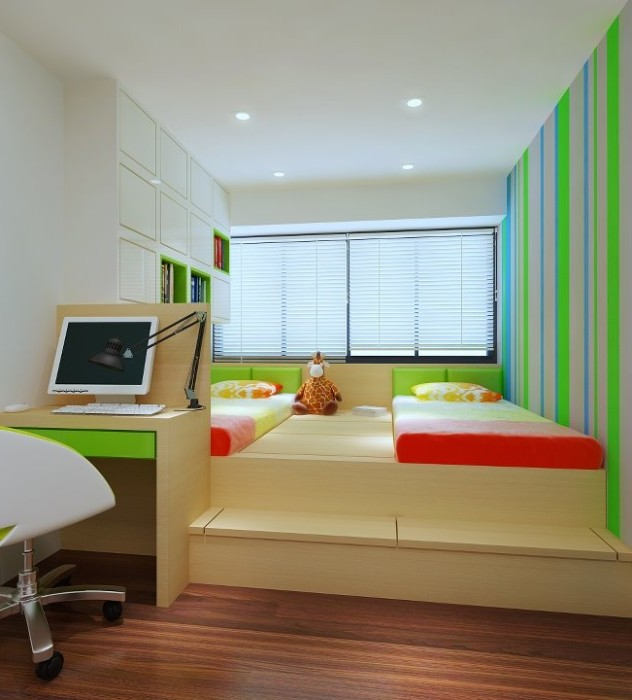 Планировка комнаты для двух детей