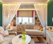 Интерьер комнаты с детской зоной