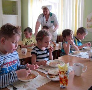 Режим питания в детском саду