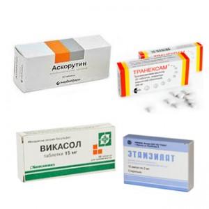 Кровоостанавливающие препараты при обильной менструации