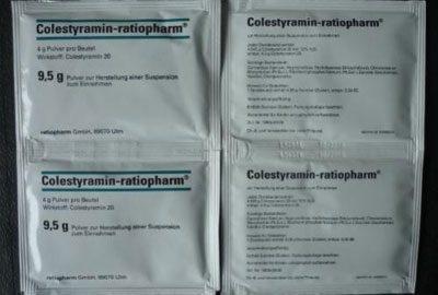 Препарат колестирамин