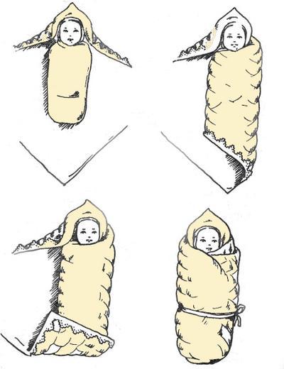 метод пеленания конвертик