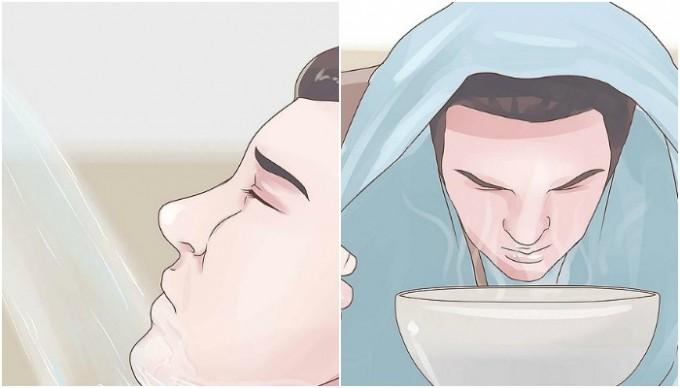 Ингаляции и прием душа помогут устранить заложенность и отек в носу