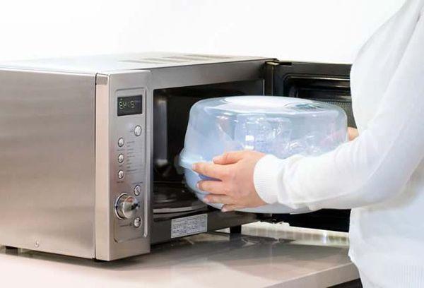 Стерилизация посуды в свч печи