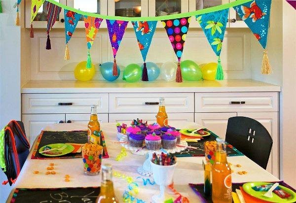 как украсить комнату на день рождения фото