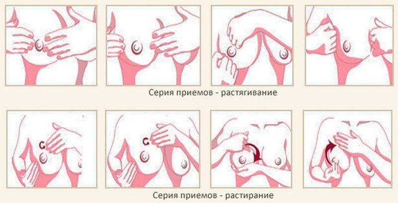 Массаж груди - технология (схема)