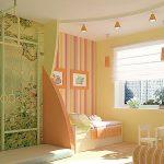 Дизайн комбинированных обоев в детскую комнату
