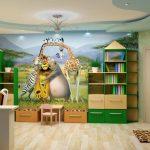 Фотообои с героями мультфильмов в дизайне детских комнат