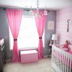 Детская комната в светро-розовых тонах