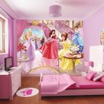 Фотообои с принцессами из сказки для детской комнаты