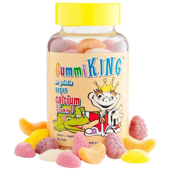 GummiKing, Кальций с витамином D для детей, 60 жевательных конфет