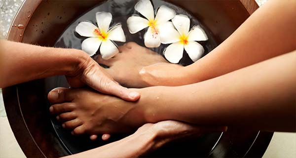 Массаж ног и ванночка