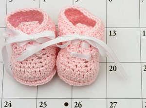 Детские ботинки на календаре
