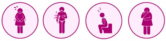 инфографика основных ощущений после подсадки эмбрионов