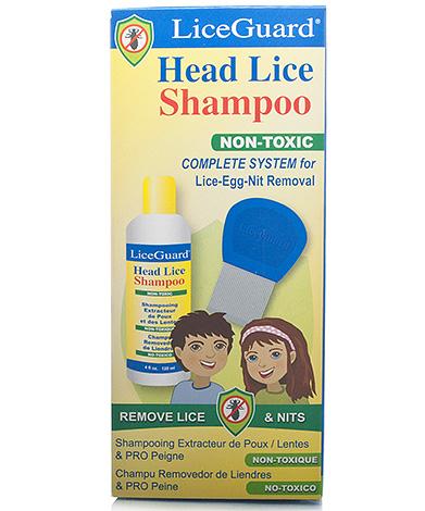 Шампунь LiceGuard имеет низкую токсичность как для человека, так и для вшей