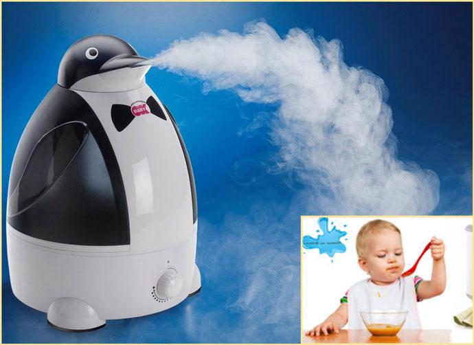 Увлажнитель воздуха ребенок кушает