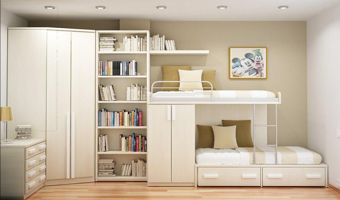 Светлые тона и необычная мебель помогут сэкономить место в комнате