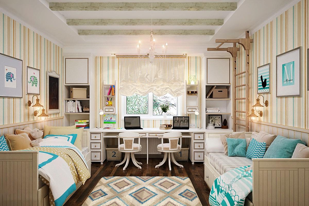 Для детей одного возраста и пола продумать дизайн комнаты легче всего