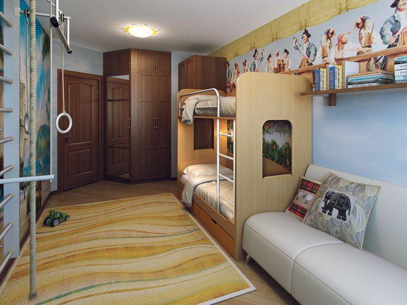 Планировка комнаты для детей разного возраста