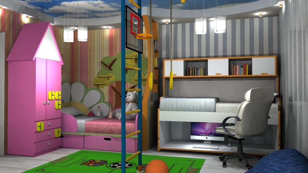 Для разнополых детей в комнате должно быть максимальное разграничение зон