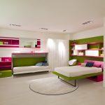 Откидные и выдвижные кровати для детской комнаты