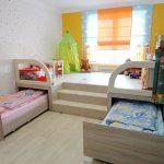 Выдвижные кровати для детской комнаты