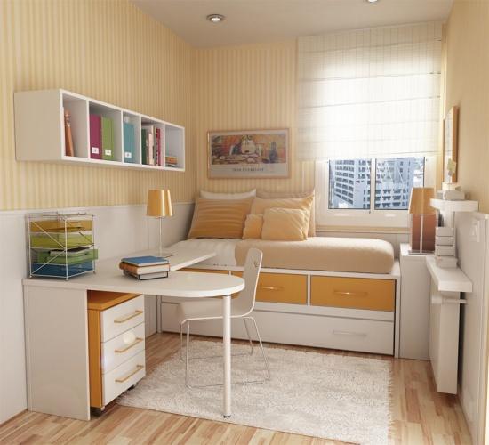 интерьер маленькой детской комнаты 2