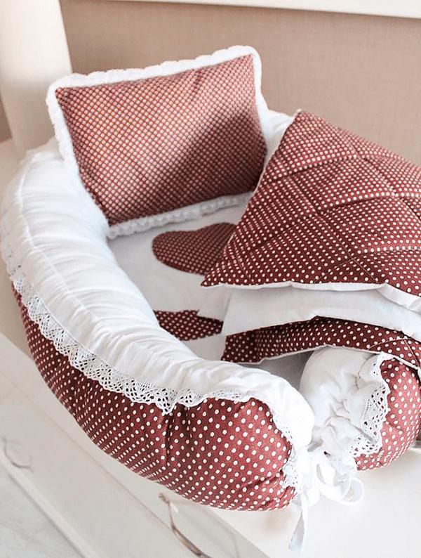 Сшить кокон гнёздышко для малыша с одеялом и подушкой