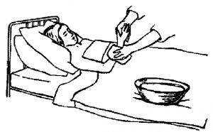 обтирание водкой