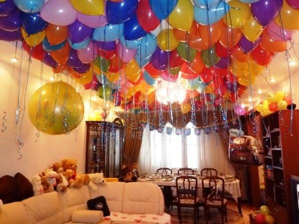 как украсить комнату на детский день рождения своими руками фото