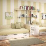 Вариант расстановки мебели для детской