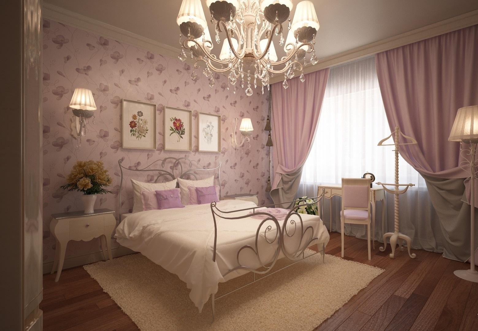 Стиль романтизм в спальне старшеклассницы