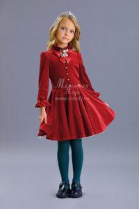 Платье детское брусничное